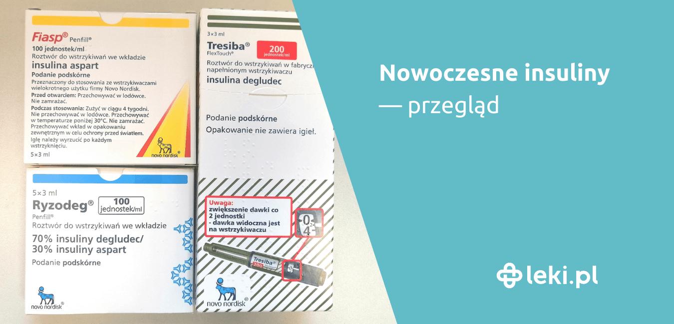 Przegląd, w którym znajdziesz aktualnie zarejestrowane w Polsce nowoczesne produkty lecznicze zawierające analogi insuliny.