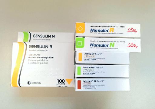 Insuliny ludzkie zarejestrowane w Polsce